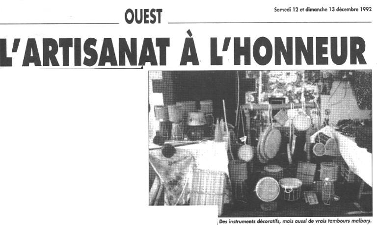 Artisanat a l honneur (Exposition Fait Main Ile de la Réunion 1992)