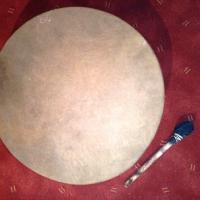 Tambour chamanique 46 cm avec sa mailloche