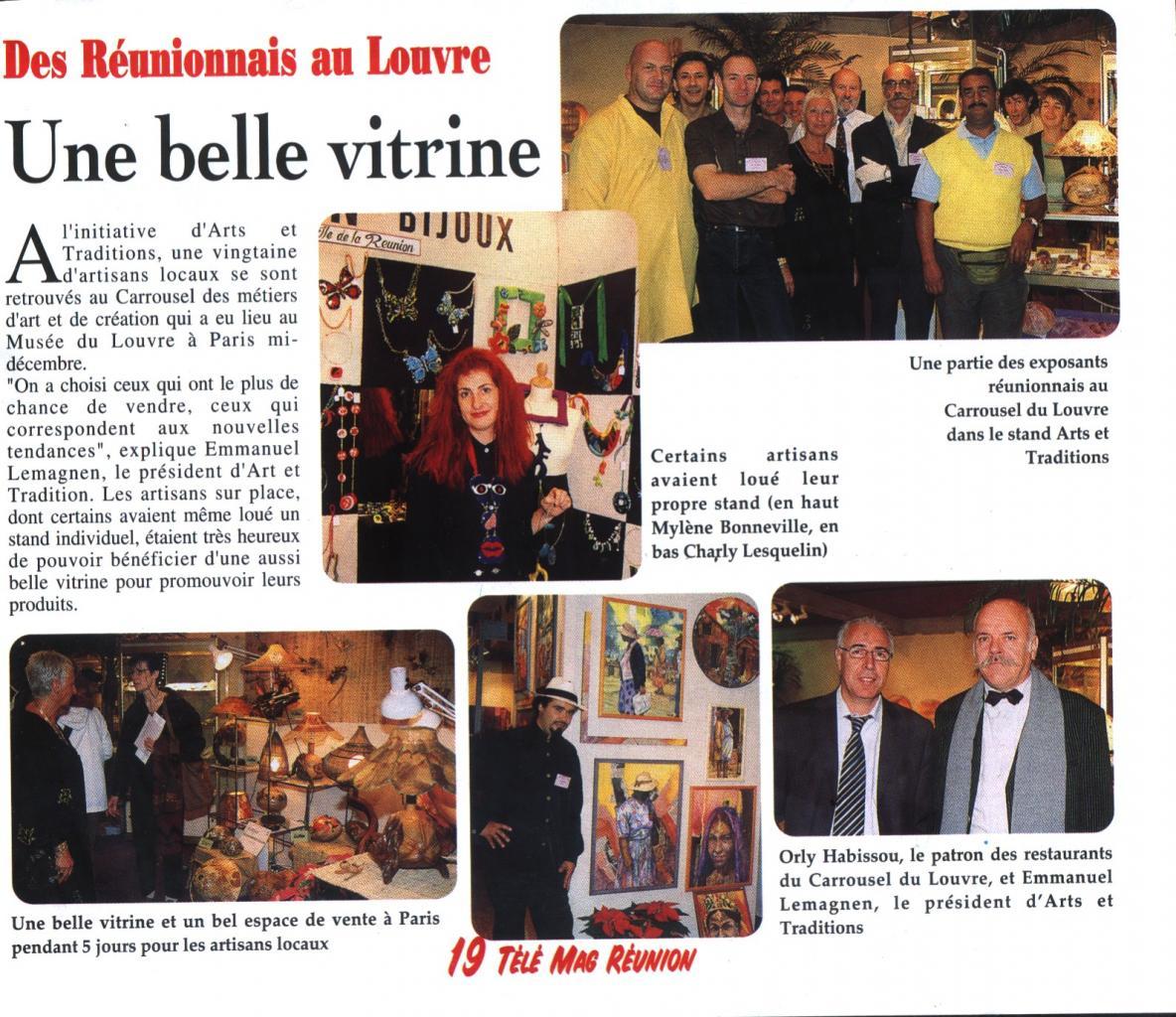 Carrousel des Métiers d'Art Paris /  Louvre 2002 (article du Magazine Tele Mag)