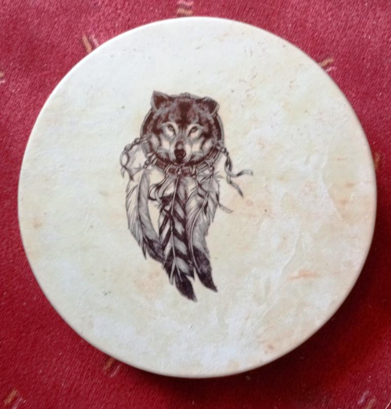Loup decalco 3 jul 35 cm