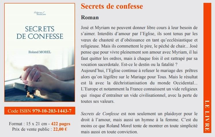 Secret de confesse page dossier presse