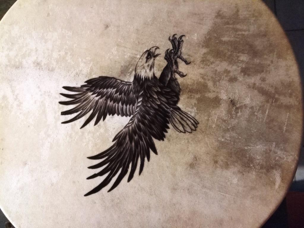 Tamb chaman aigle plongeant 9 191