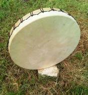 Tamour shaman cerclage hêtre massif 18 pouces